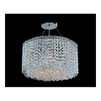 Allegri Millieu-Metro 6 Light Pendant in Chrome with Firenze Clear Crystals 11668-010-FR001