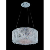 Allegri Millieu-Metro 8 Light Pendant in Chrome with Firenze Clear Crystals 11669-010-FR001