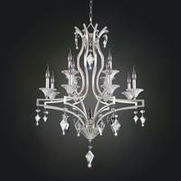 Allegri 11676-022-FR001 Florence 12 Light 32 inch Tarnished Silver Chandelier Ceiling Light