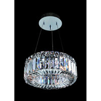 Allegri Quantum-Rondelle 3 Light Pendant in Chrome with Firenze Clear Crystals 11702-010-FR001