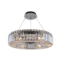 Allegri Quantum Rondelle 6 Light Chandelier in Chrome with Firenze Clear Crystals 11703-010-FR001