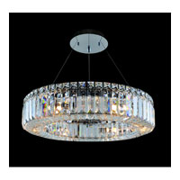 Allegri Quantum-Rondelle 6 Light Chandelier in Chrome with Firenze Clear Crystals 11703-010-FR001