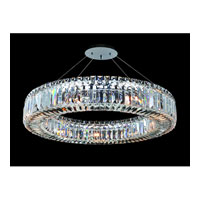 Allegri Quantum-Rondelle 9 Light Pendant in Chrome with Firenze Clear Crystals 11704-010-FR001