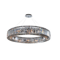 Allegri Quantum Rondelle 12 Light Pendant in Chrome with Firenze Clear Crystals 11705-010-FR001