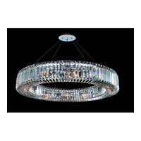 Allegri Quantum-Rondelle 12 Light Pendant in Chrome with Firenze Clear Crystals 11705-010-FR001