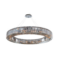 Allegri Quantum Rondelle 18 Light Pendant in Chrome with Firenze Clear Crystals 11706-010-FR001