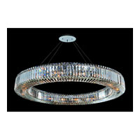 Allegri Quantum-Rondelle 18 Light Pendant in Chrome with Firenze Clear Crystals 11706-010-FR001