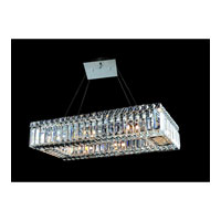 Allegri Quantum Baguette 8 Light Pendant in Chrome with Firenze Clear Crystals 11707-010-FR001