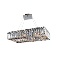Allegri 11707-010-FR001 Baguette 8 Light 12 inch Chrome Pendant Ceiling Light