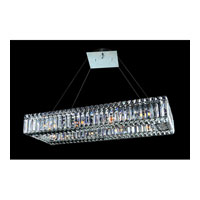 Allegri Quantum Baguette 10 Light Pendant in Chrome with Firenze Clear Crystals 11708-010-FR001