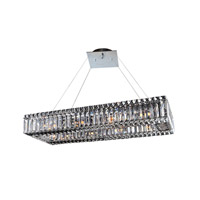 Allegri 11708-010-FR001 Baguette 10 Light 12 inch Chrome Pendant Ceiling Light