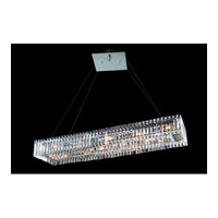 Allegri Quantum Baguette 12 Light Pendant in Chrome with Firenze Clear Crystals 11709-010-FR001