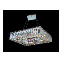 Allegri Quantum Quadro 8 Light Pendant in Chrome with Firenze Clear Crystals 11710-010-FR001