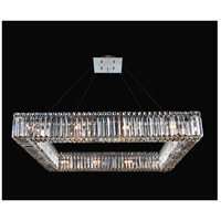 Quadro 16 Light 26 inch Chrome Pendant Ceiling Light