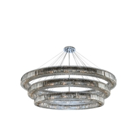Allegri 11715-010-FR001 Rondelle 62 Light 84 inch Chrome Pendant Ceiling Light