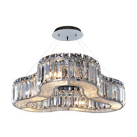 Allegri Quantum Inegal 6 Light Chandelier in Chrome with Firenze Clear Crystals 11719-010-FR001