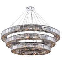 Allegri 11723-010-FR001 Rondelle 56 Light 72 inch Polished Chrome Pendant Ceiling Light