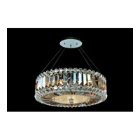 Allegri Luxor 3 Light Pendant in Chrome with Firenze Fleet Gold Crystals 11740-010-FR005