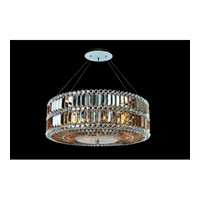 Allegri Luxor 6 Light Pendant in Chrome with Firenze Fleet Gold Crystals 11741-010-FR005