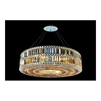 Allegri Luxor 9 Light Pendant in Chrome with Firenze Fleet Gold Crystals 11742-010-FR005
