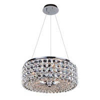 Allegri Arche 3 Light Pendant in Chrome with Firenze Clear Crystals 11751-010-FR001