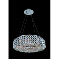 Allegri Arche 6 Light Pendant in Chrome with Firenze Clear Crystals 11752-010-FR001