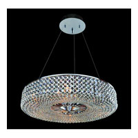 Allegri Arche 9 Light Pendant in Chrome with Firenze Clear Crystals 11753-010-FR001
