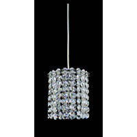 Allegri Millieu 1 Light Mini Pendant in Chrome with Firenze Clear Crystals 11760-010-FR001