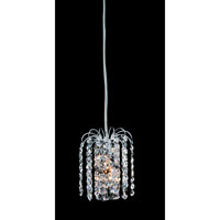 Allegri Millieu 1 Light Mini Pendant in Chrome with Firenze Clear Crystals 11762-010-FR001