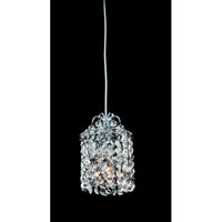 Allegri Millieu 1 Light Mini Pendant in Chrome with Firenze Clear Crystals 11763-010-FR001