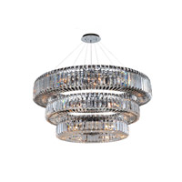 Rondelle 39 Light 48 inch Chrome Chandelier Ceiling Light