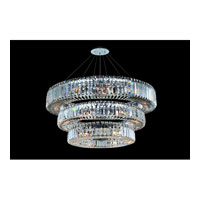 Allegri Quantum Rondelle 39 Light Chandelier in Chrome with Firenze Clear Crystals 11770-010-FR001