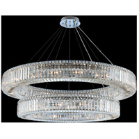 Rondelle 30 Light 47 inch Chrome Pendant Ceiling Light
