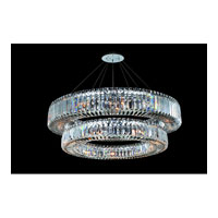 Allegri Quantum Rondelle 21 Light Chandelier in Chrome with Firenze Clear Crystals 11774-010-FR001