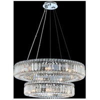 Rondelle 15 Light 26 inch Chrome Pendant Ceiling Light