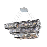 Baguette 30 Light 12 inch Chrome Chandelier Ceiling Light