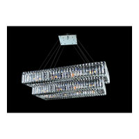 Allegri Quantum Baguette 22 Light Chandelier in Chrome with Firenze Clear Crystals 11778-010-FR001
