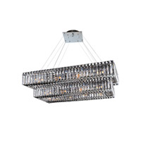 Allegri 11778-010-FR001 Baguette 22 Light 12 inch Chrome Chandelier Ceiling Light