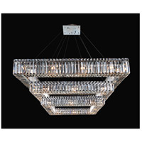 Quadro 36 Light 35 inch Chrome Chandelier Ceiling Light