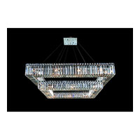 Allegri Quantum Quadro 28 Light Chandelier in Chrome with Firenze Clear Crystals 11781-010-FR001