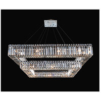Quadro 28 Light 35 inch Chrome Pendant Ceiling Light