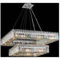 Allegri 11782-010-FR001 Quadro 20 Light 38 inch Chrome Pendant Ceiling Light