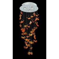 Allegri Marini 3 Light Flush Mount in Chrome with Firenze Clear Crystals 11790-010-FR001