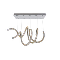 Allegri 11804-010-FR001 Ravina LED 24 inch Chrome Chandelier Ceiling Light in Firenze Clear
