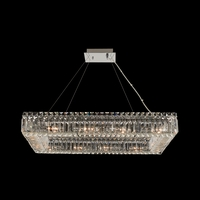 Allegri 11831-010-FR001 Baguette 12 Light 19 inch Chrome Pendant Ceiling Light