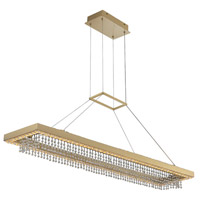Allegri 036361-039-FR001 Saturno LED 44 inch Brushed Brass Island Ceiling Light