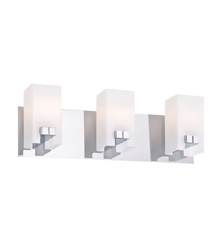 Alico BV3323-10-15 Gemelo 3 Light 19 inch Chrome Vanity Wall Light photo
