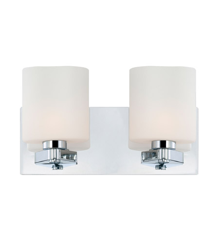 Alico BV5502-10-15 Embro 2 Light 13 inch Chrome Vanity Wall Light photo