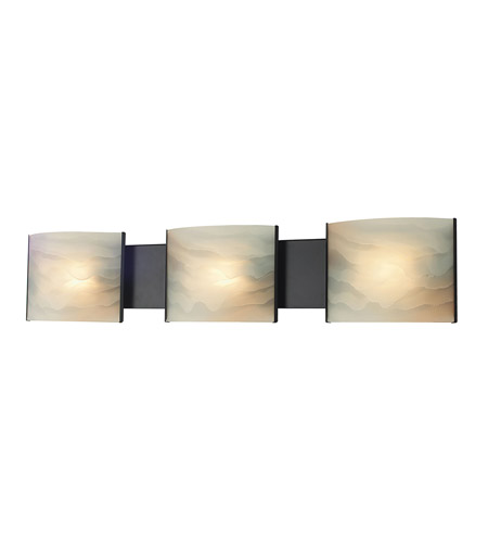 Alico BV713-HM-45 Pannelli 3 Light 30 inch Oil Rubbed Bronze Vanity Wall Light photo