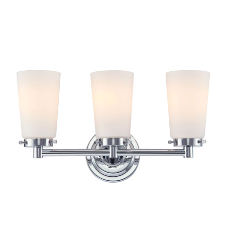 Alico BV7T3-10-15 Madison 3 Light 17 inch Chrome Vanity Wall Light photo